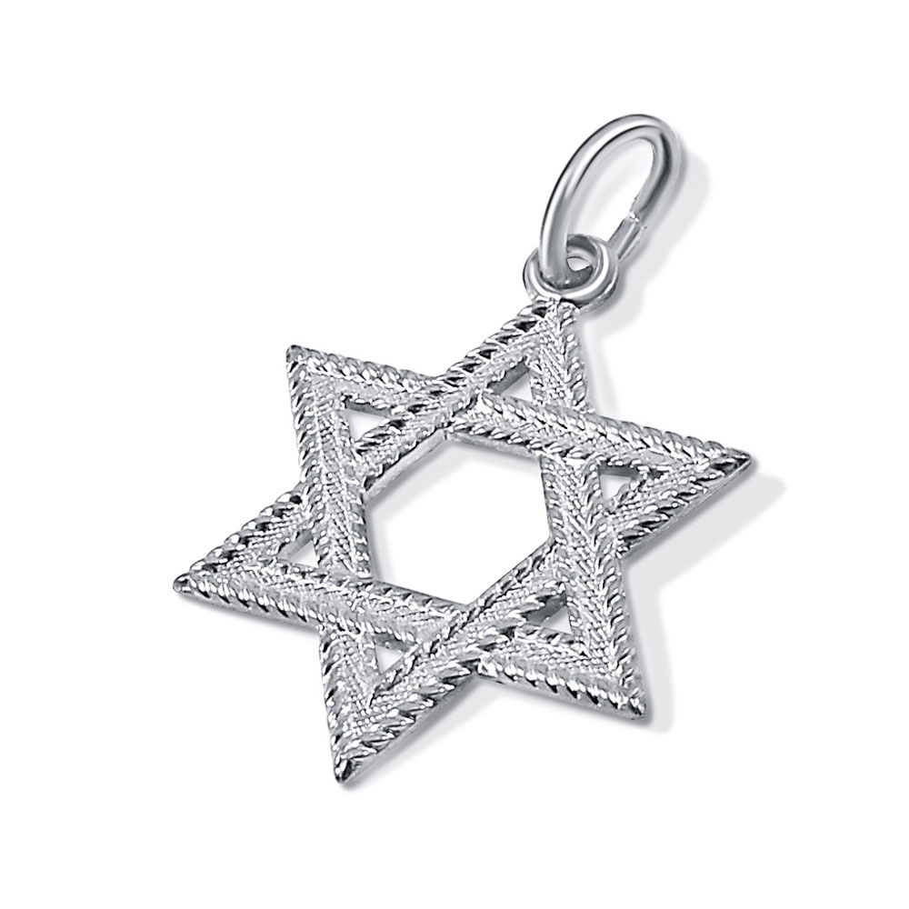 Traditional silver plated star of david pendant sterling silver star of david aloadofball Choice Image