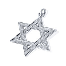 Sterling silver jewish star of david pendant jewelry large sterling silver star of david aloadofball Image collections