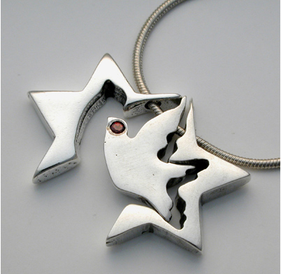 3 piece silver star of david necklace flying for Star of david jewelry wholesale