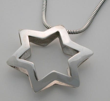 Sterling silver star pendant necklace aloadofball Image collections