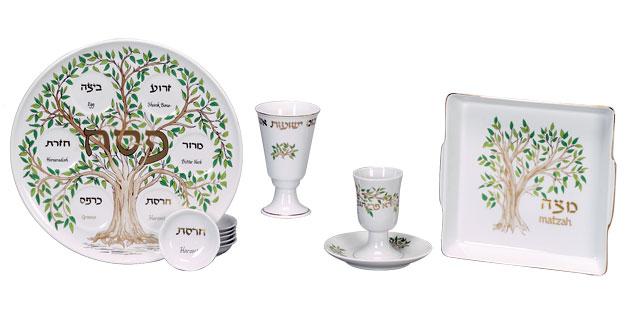 2 Piece Porcelain Seder Set