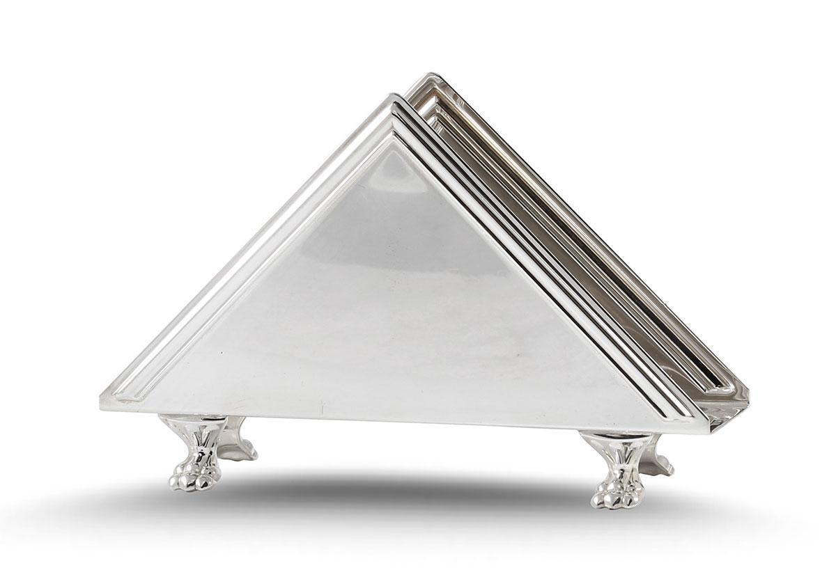 Unique Silver Napkin Holder