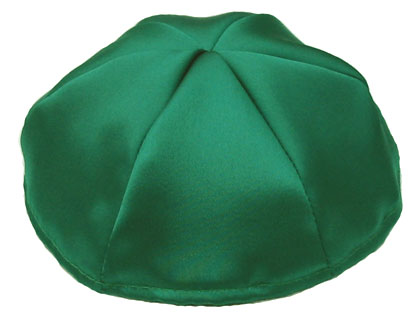 1f5f1785c8f73 Satin Kippot with Optional Personalization - Kelly Green · Zoom image ...
