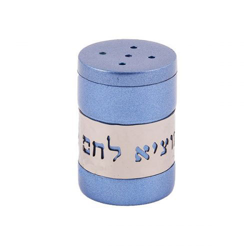 Anodized Aluminum Salt Shaker With Metal Cutout Zoom Image