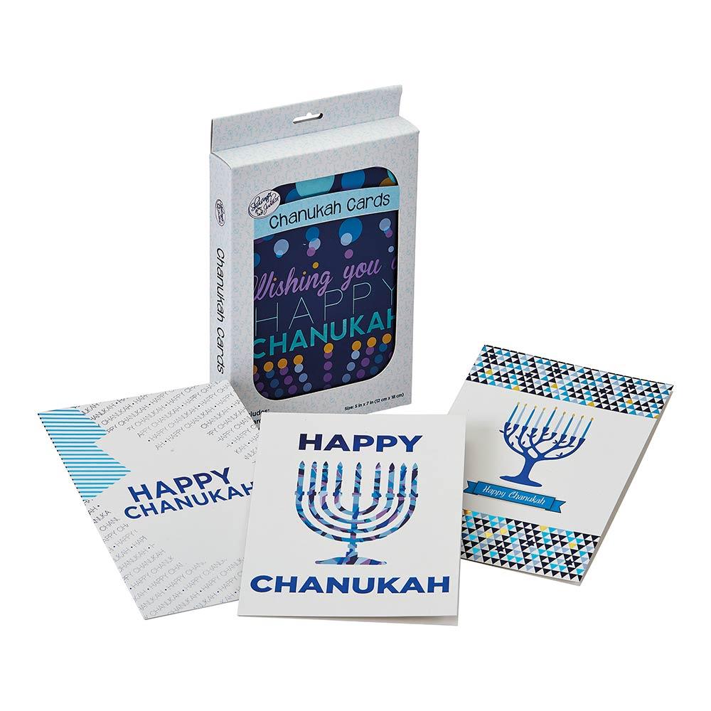 Hanukkah Cards And Envelopes Pack Of 12 Sets