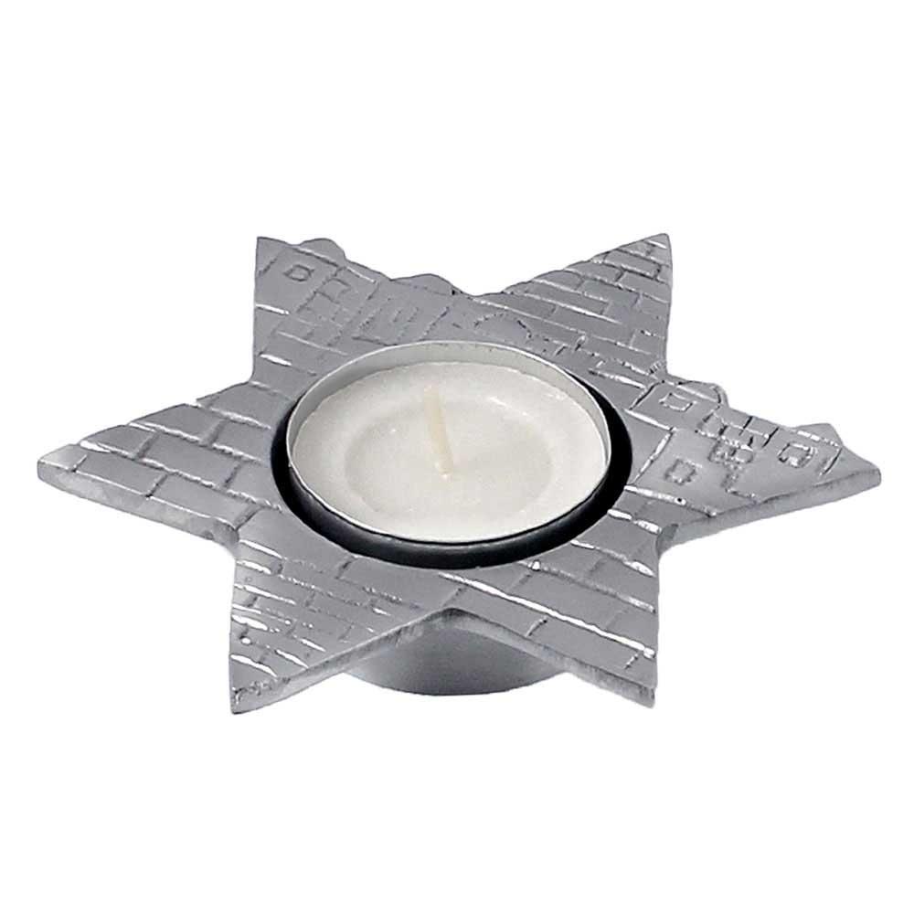 Star Of David Shape Tealight Holder For Jewish Candle Lighting