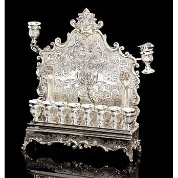 Sterling Silver Menorah - Regal Collection