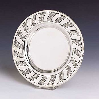 Sterling Silver Kiddush Cup Tray - London