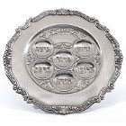 Pewter Passover Seder Plate - Gift Boxed, Elegant Seder Plate Gift