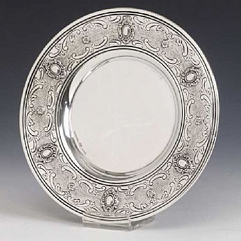Sterling Silver Kiddush Cup Tray - Portofino
