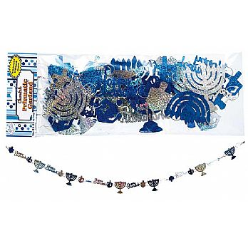 Hanukkah Prismatic Garland Decoration 8 Feet Long