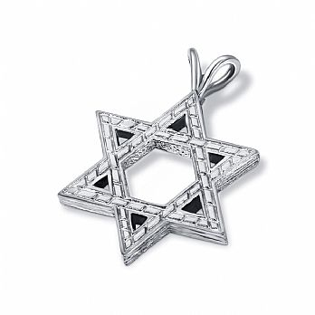 Thick Sterling Silver Star of David -Large