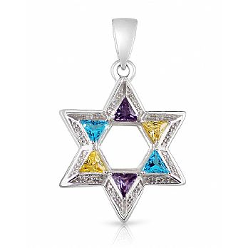 Star of David with colored stones