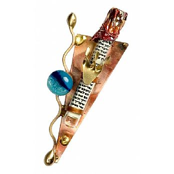 Gary Rosenthal Mezuzah Cover - Glass Beads