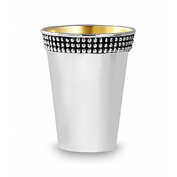 Sterling Silver Kiddush Cup - Bead Band