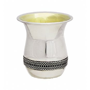 Sterling Silver Kiddush Cup - FIligree