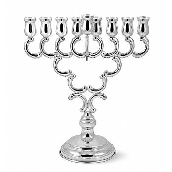 Large Sterling Silver Chanukah Menorah - Candle or Oil