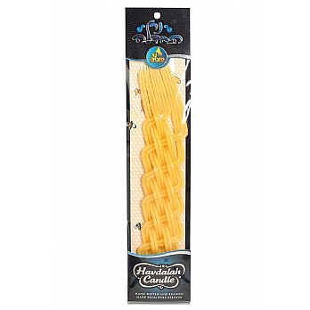 Havdallah Candle Large Braided Pure Beeswax 14''