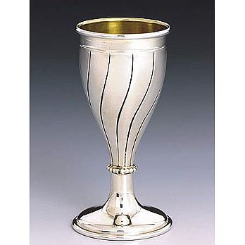 Sterling Silver Lechaim Cups - Stripes