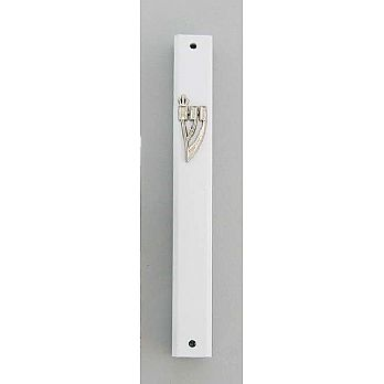 Solid Metal Mezuzah Cover indoor/Outdoor - Silver
