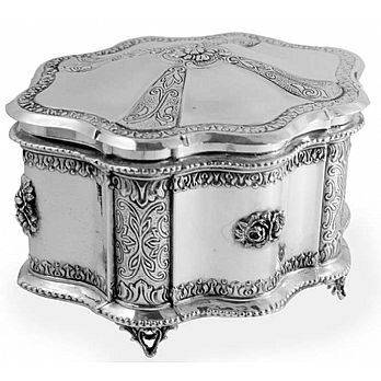 Sterling Silver Etrog Box - Chatzor Deluxe