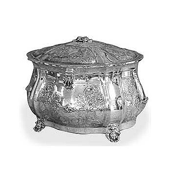 Sterling Silver Etrog Box - Boaz Deluxe
