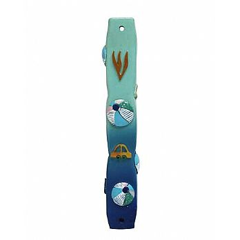 Childrens Room Mezuzah Cover with Balls