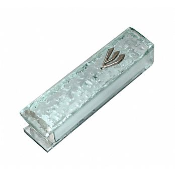 Etched Frosted Glass Mezuzah Cover