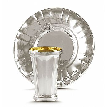 Sterling Silver Kiddush Wine Cup - Optional Set