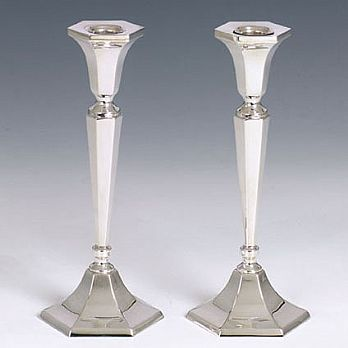 Sterling Silver Candlestick Set- Classic