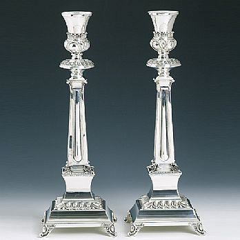 Sterling Silver Candlestick Set - Supra Large