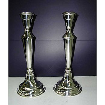 Sterling Silver Candlestick Set - Smooth