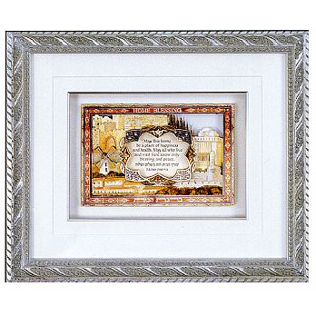 3D Framed Home Blessing - Jerusalem