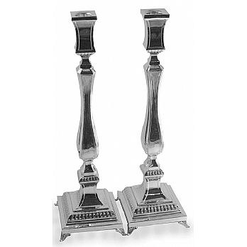 Sterling Silver Candlestick set - Square Classic