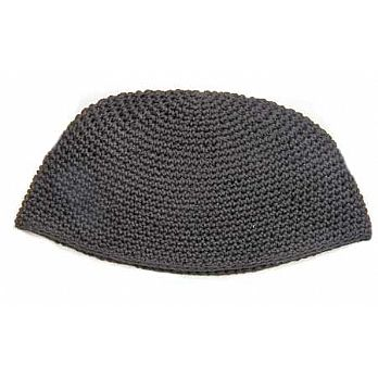 Large Knit (Freak) Kippah - Black