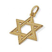 14k gold jewish star of david pendants judaica gold star of david 14k star of david pendant rope style aloadofball Images