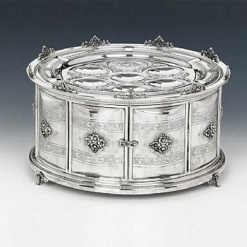 Sterling Silver Seder Plate - Pas Perachim