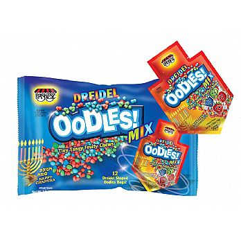 Chanukah Soft Candy OODLES - Family Pack of 12 Packets