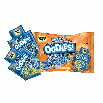 Chanukah Soft Candy OODLES - Family Pack of 12 Packets Blue