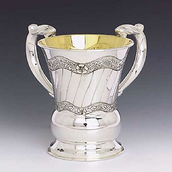 Sterling Silver Wash Cup - Leaves