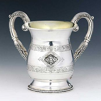 Sterling Silver Wash Cup - Floral