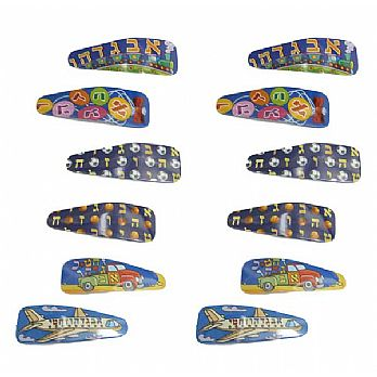 Adorable Metal Kippah Clips - 12 Pack Assorted