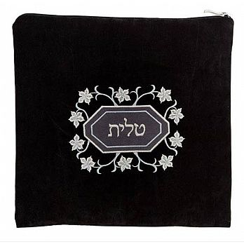 Impala Tallit/Tefillin Bag Set - Black Floral