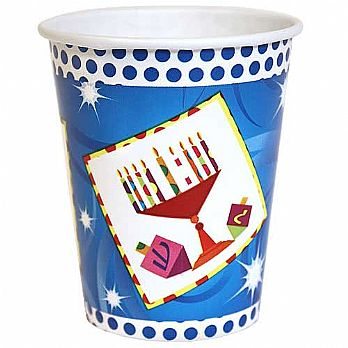 Hanukkah Hot & Cold Paper Cups 16 Pack