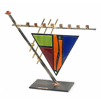 Gary Rosenthal Art Menorah - Contemporary