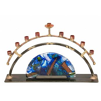 Gary Rosenthal Art Menorah - Half Circle