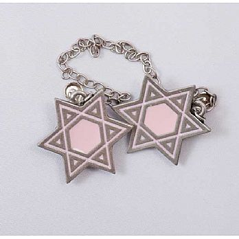 Star of David Tallit Clip - Pink