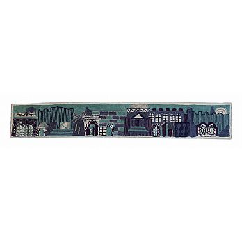 Hand Embroidered Attarah - Jerusalem in Blue