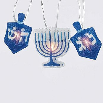 Hanukkah Hologram Light Set 9ft. Long