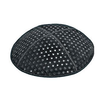 Embossed Suede Kippot - Small Dots